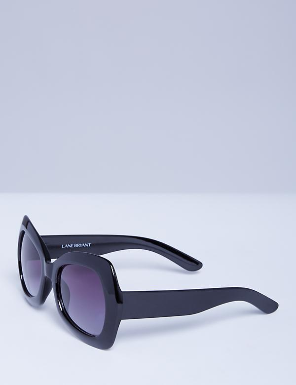 Oversized Butterfly Frame Sunglasses