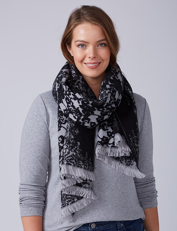 Lace Jacquard Scarf