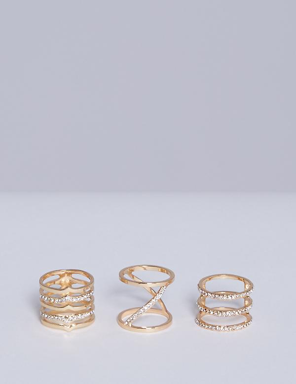 3-Stack Linear Ring Set