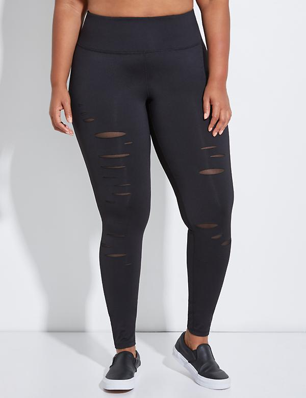 Wicking Slashed Active Legging