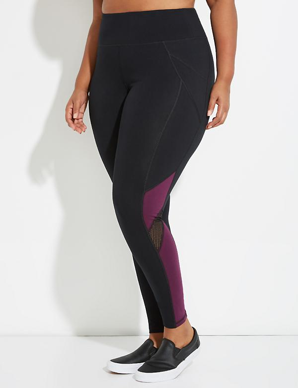 Signature Stretch Colorblock & Mesh Active Legging