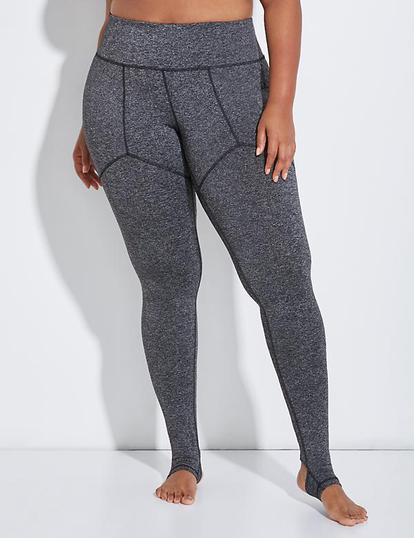 Wicking Active Stirrup Legging with Lattice Inset