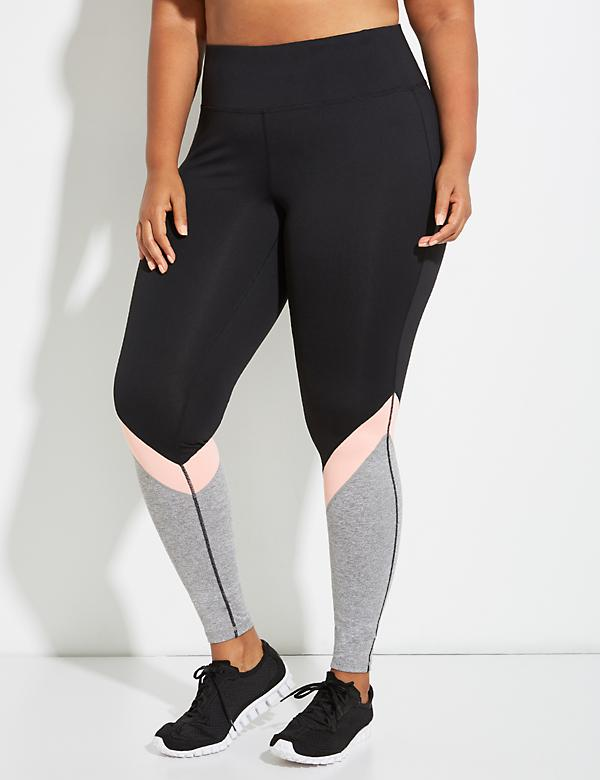 Wicking Triple Colorblock Active Legging