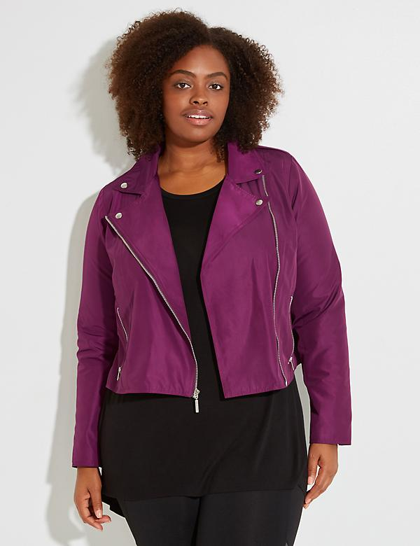 Fast Lane Woven Active Moto Jacket