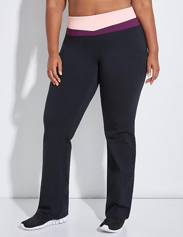 Signature Stretch Yoga Pant with Spliced Waistband
