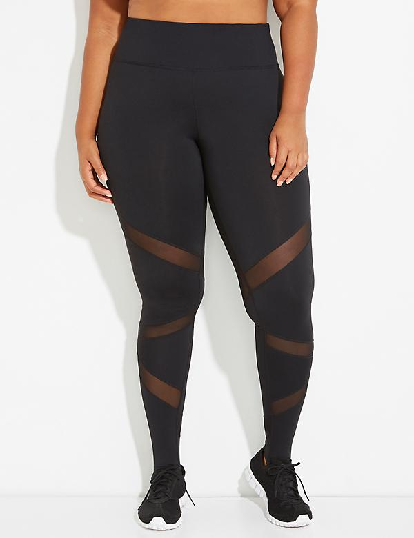 Wicking Active Legging with Stirrups & Mesh