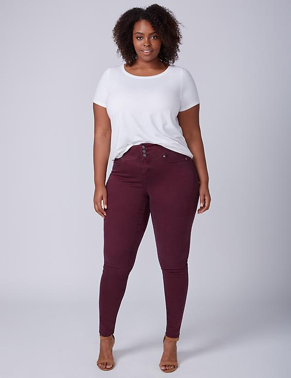 High-Rise Super Stretch Skinny Jean - Wine