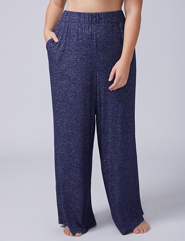 Marled Wide-Leg Sleep Pant