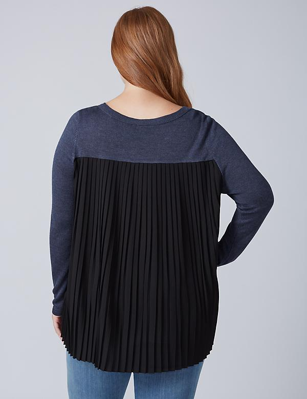 Pleated-Back Sweater