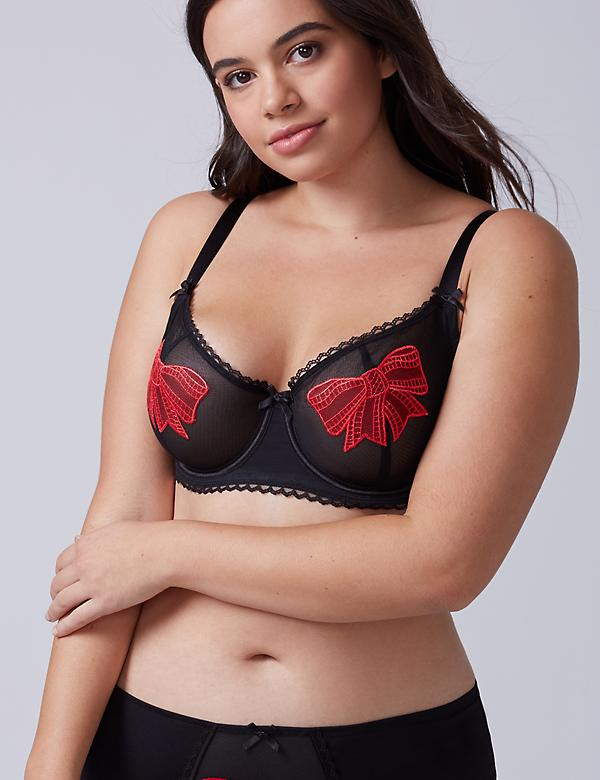 Bow Motif Unlined Balconette Bra
