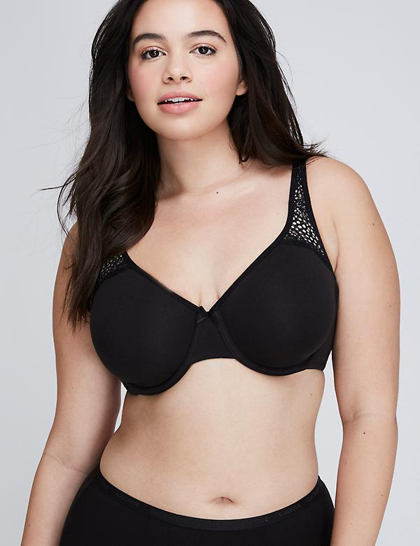 Cotton Unlined Full Coverage Bra With Lace
