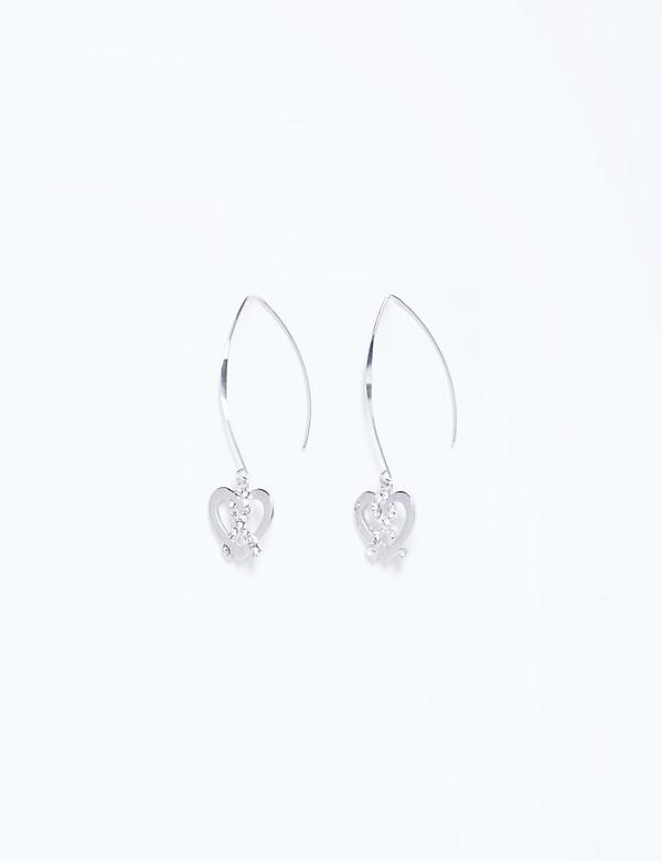 Wire Drop Earrings with CZ