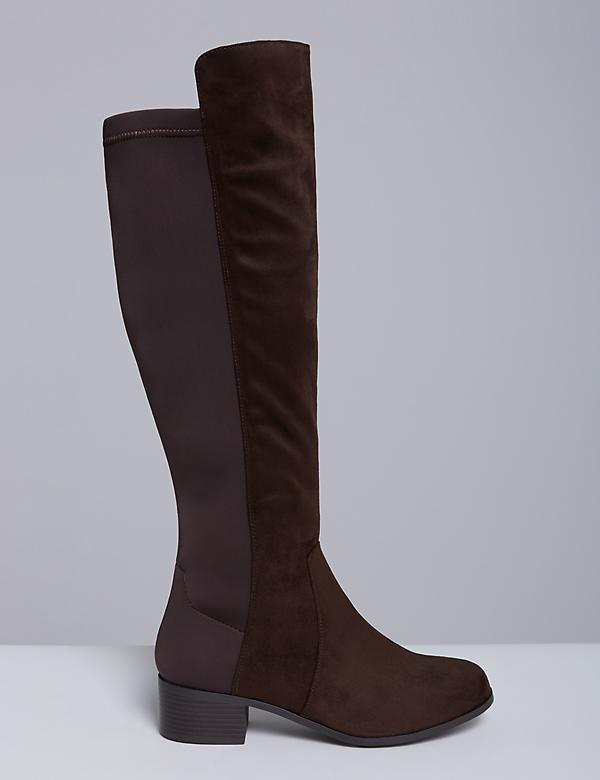 Faux Suede To-the-Knee Boot