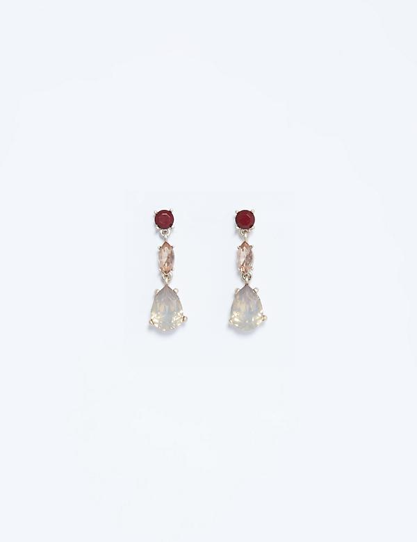 Linear Tonal Stone Earrings