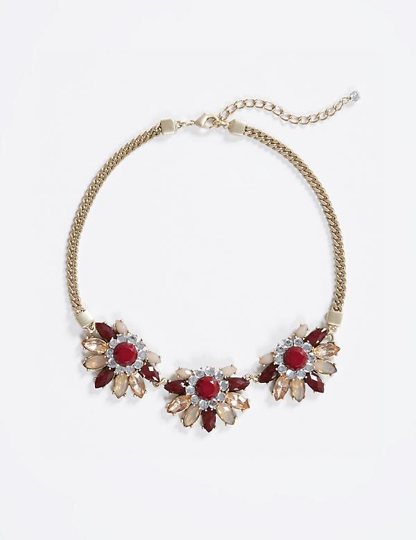 Short Floral Statement Necklace