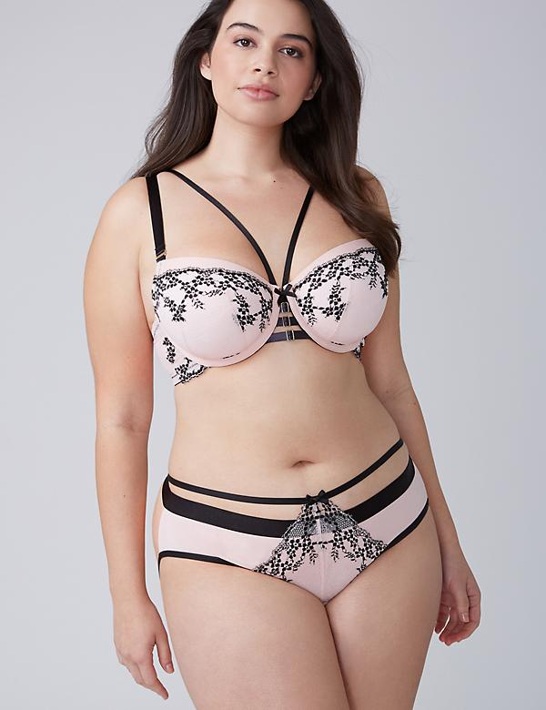 Lace-Front Bow-Back Panty