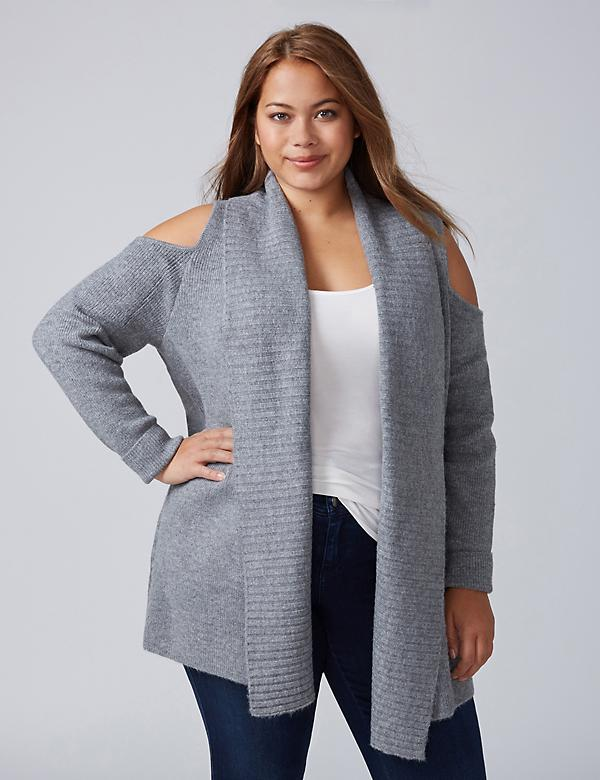 Cold-Shoulder Cardigan