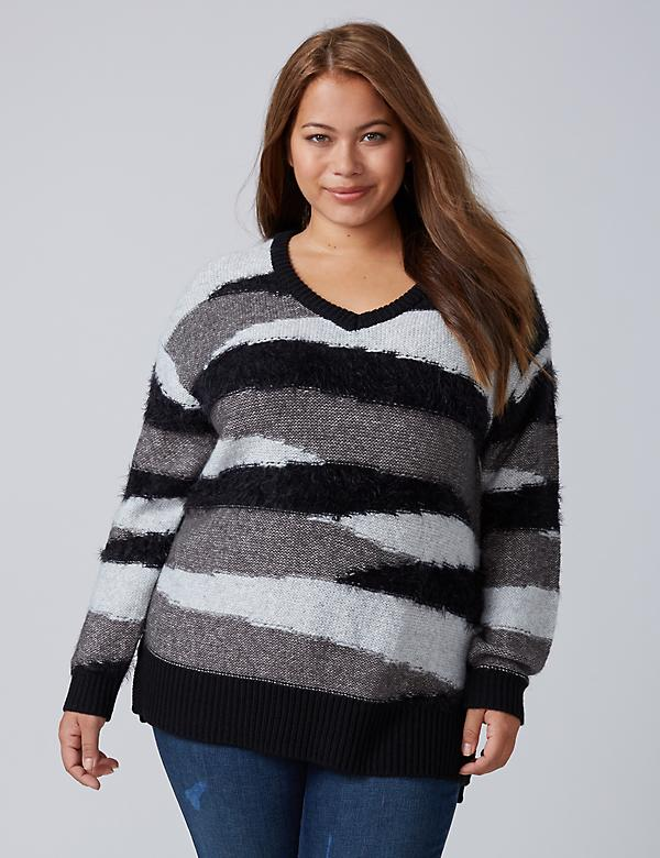 Sweater with Eyelash Yarn