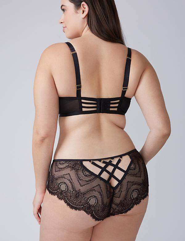 Strappy Lace-Back Cheeky Panty