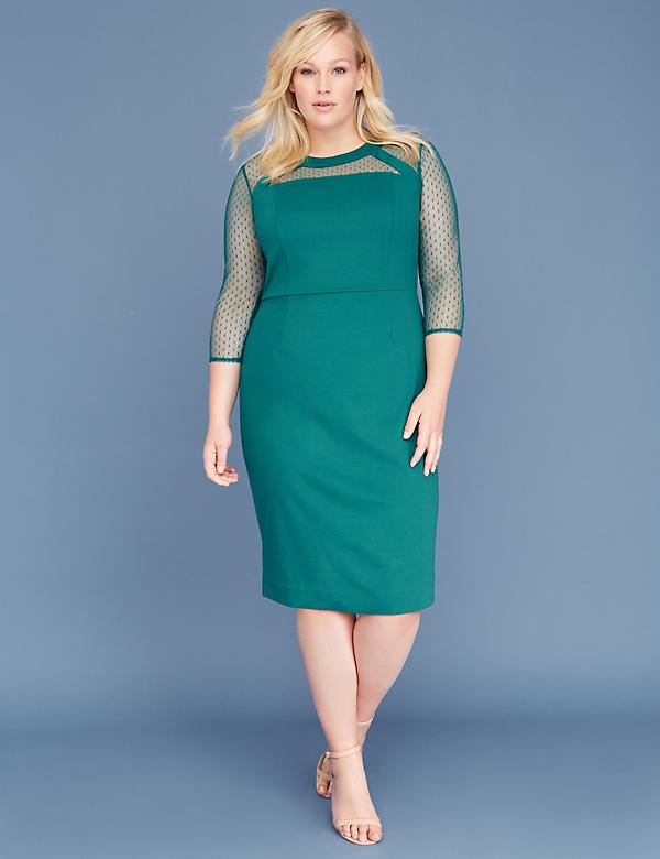 Point D'Esprit Sheath Dress