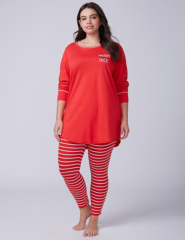 Naughty Nice Tee & Legging PJ Set