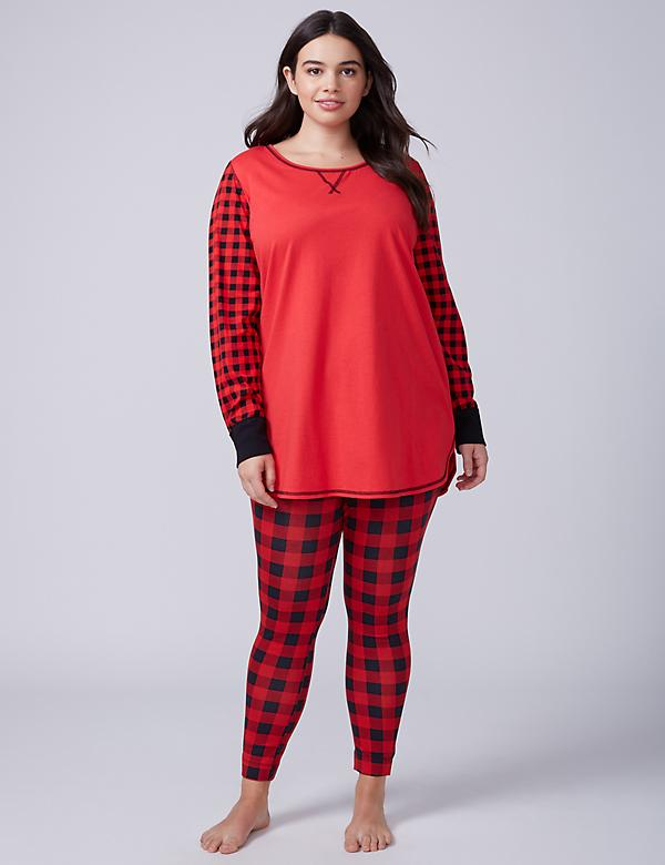 Buffalo Check Tee & Legging PJ Set
