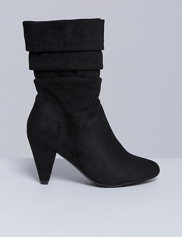 Slouch Boot with Cone Heel