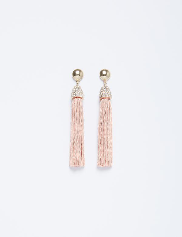 Fringe Earrings with CZ Caps