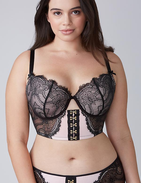 Eyelash Lace Lightly Lined Longline Balconette Bra