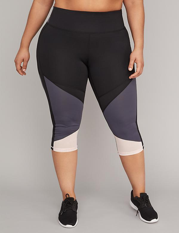 Cooling Active Capri Legging - Colorblock & Mesh