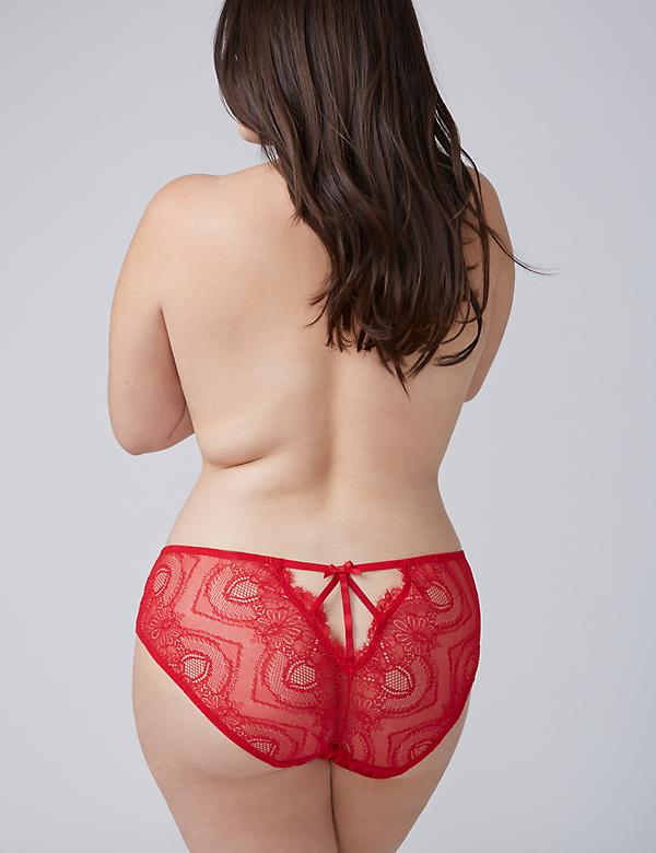 Eyelash Lace Hipster Panty with Split Gusset