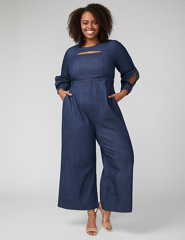 Fast Lane Chambray Jumpsuit