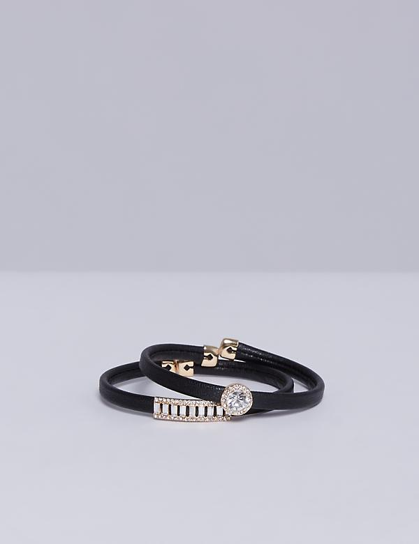 Adjustable Faux Leather Bracelet Set