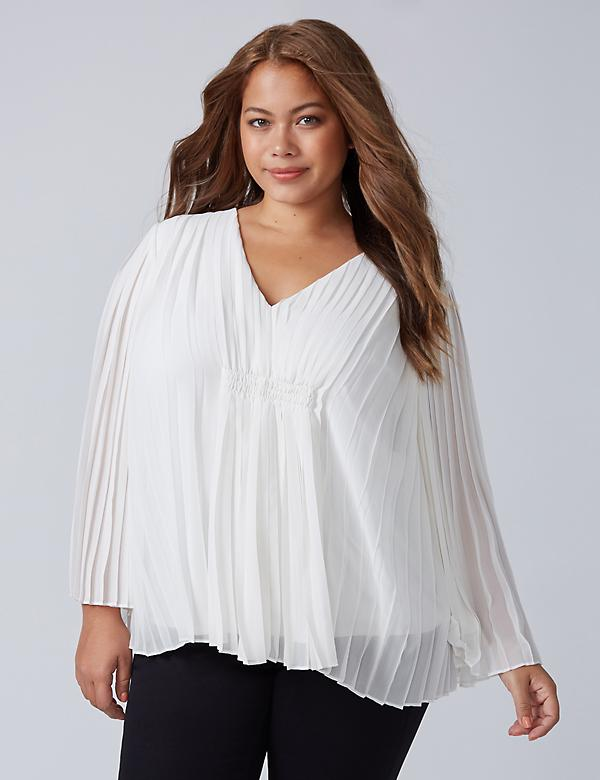 Pleated Flutter Top
