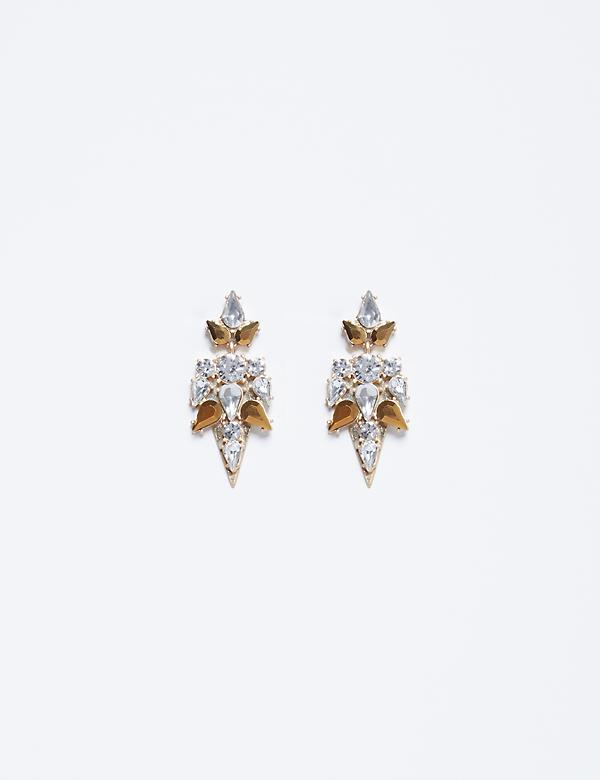 Geo Shaped CZ Earrings