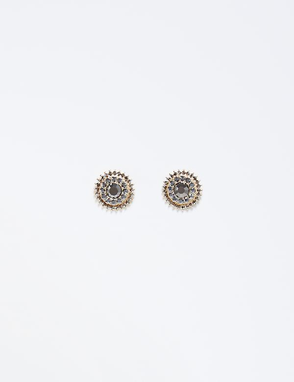 CZ Button Stud Earrings