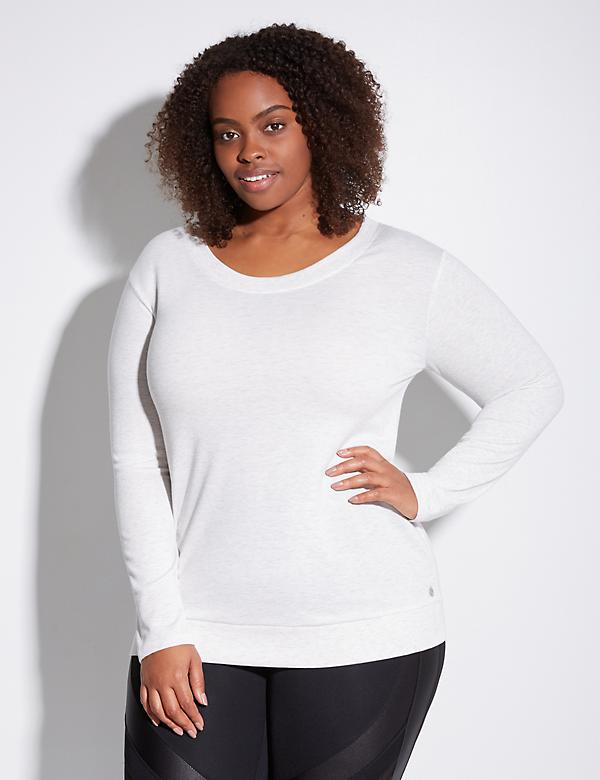 Spa Open-Back Active Sweatshirt