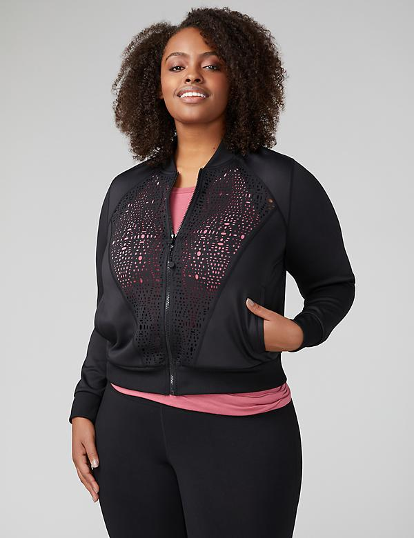 Fast Lane Laser-Cut Active Bomber Jacket