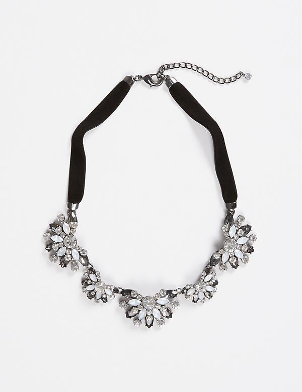 Short Velvet Statement Necklace