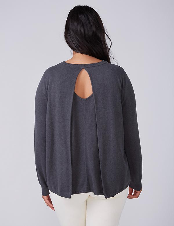Fast Lane Cashmere Blend Pleat-Back Sweater