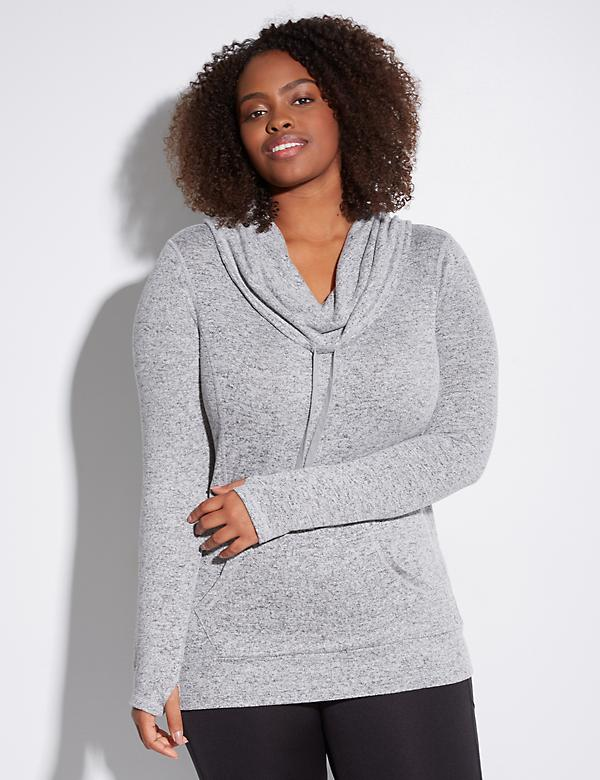 Cowl-Neck Active Pullover