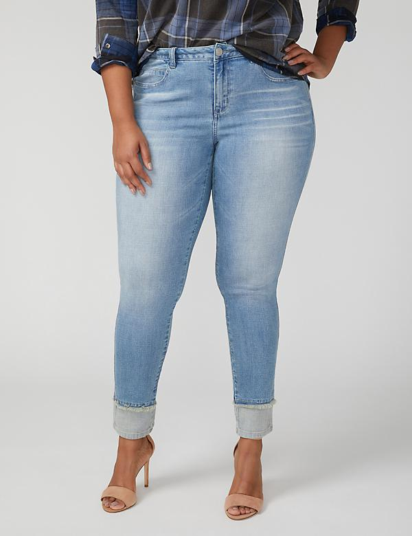 Fast Lane Skinny Jean - Layered Two-Tone Hem