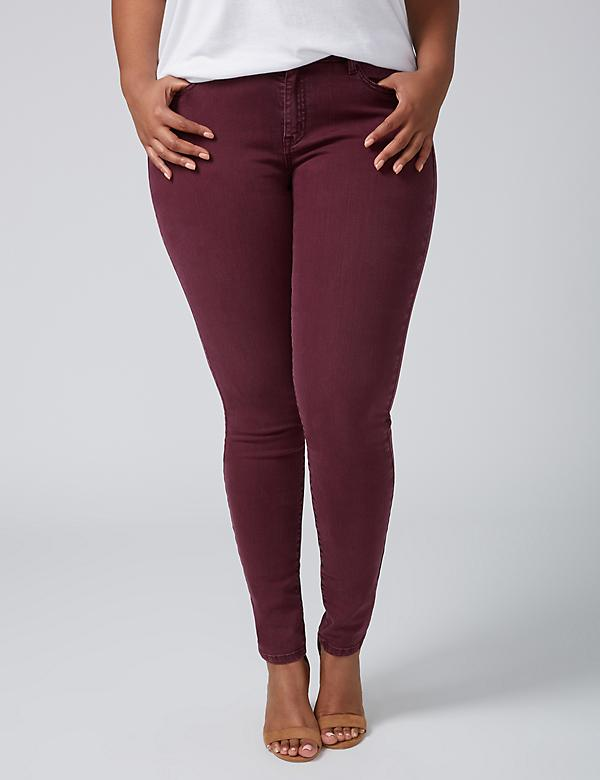 Super Stretch Skinny Jean - Wine