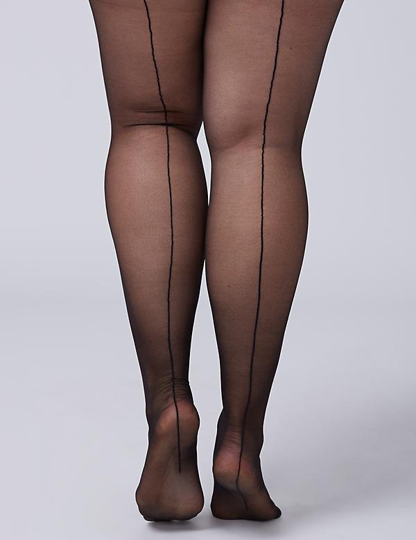 Sheer High-Waist Shaping Tights with Backseam