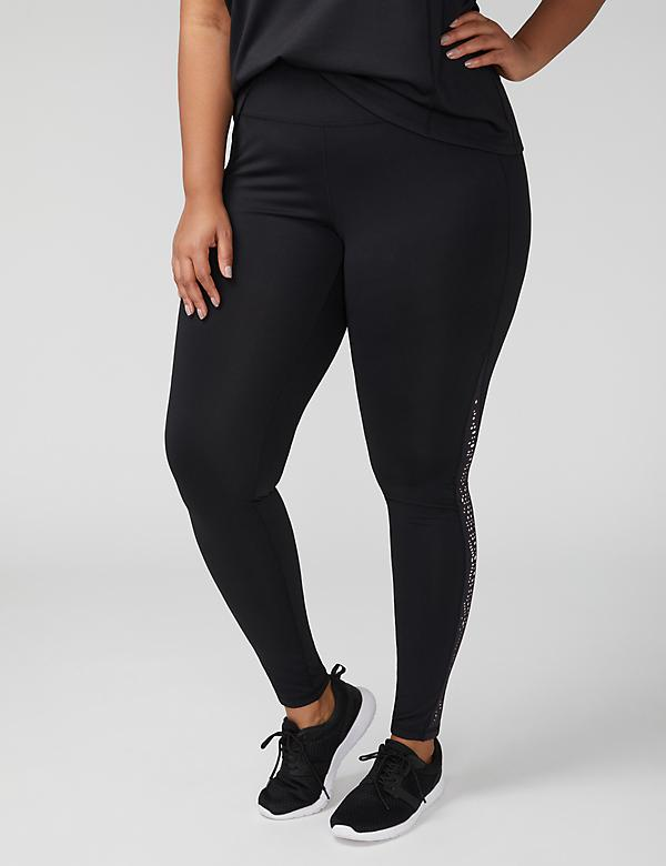 Fast Lane Wicking Laser-Cut Active Legging