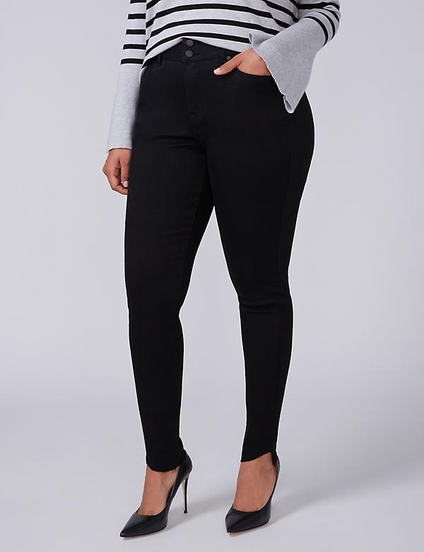 High-Rise Super Stretch Skinny Jean with Power Pockets - Black