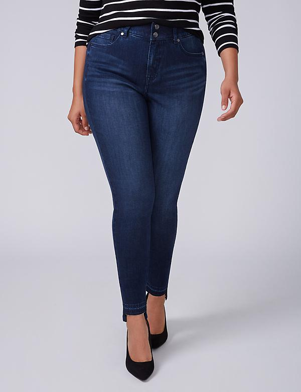 High-Rise Super Stretch Skinny Jean with Power Pockets - Silver Lake Dark Wash with Step Hem