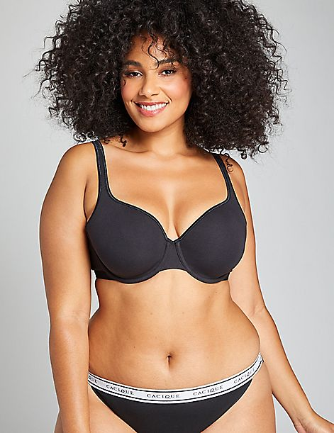 Cotton Unlined Demi Bra