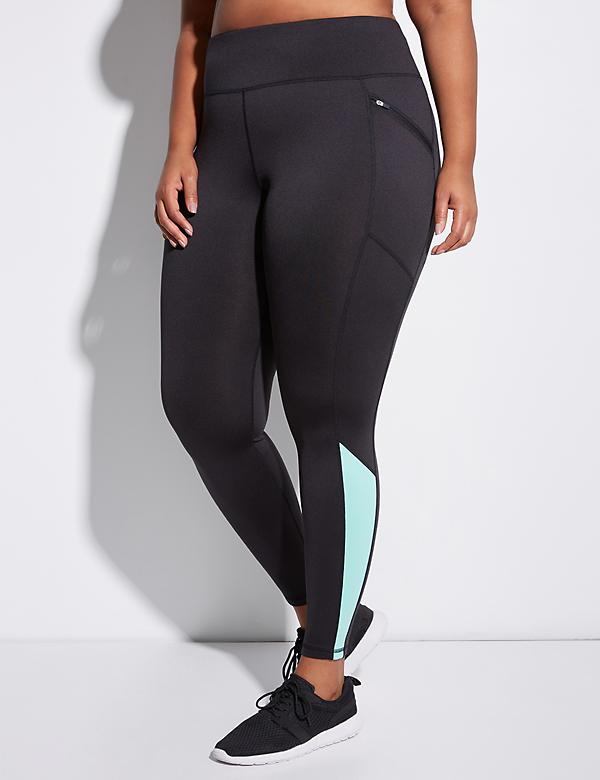 Wicking Brushed Active Legging with Zip Pockets
