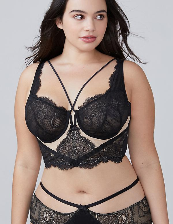Eyelash Lace Longline Unlined Balconette Bra